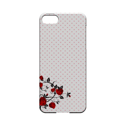 Rose Vine Geeks Designer Line Polka Dot Series Slim Hard Case for Apple iPhone 5/5S