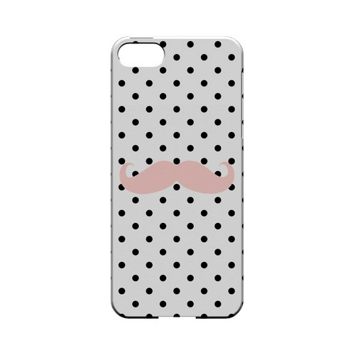 Pink Stache Geeks Designer Line Polka Dot Series Slim Hard Case for Apple iPhone 5/5S