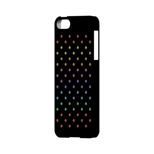 Rainbow Dots on Black Geeks Designer Line Polka Dot Series Slim Hard Case for Apple iPhone 5/5S