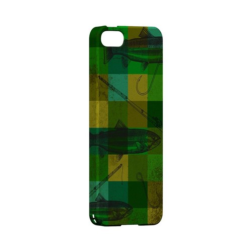 Green Plaid Trout Design - Geeks Designer Line (GDL) Fish Series Hard Back Cover for Apple iPhone 5/5S
