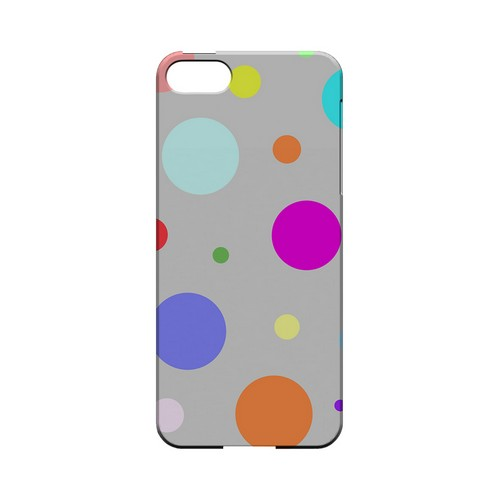 Random & Rainbow on Gray Geeks Designer Line Polka Dot Series Slim Hard Case for Apple iPhone 5/5S