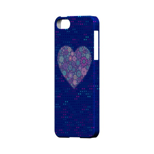 Shimmer Blue Dots & Heart Geeks Designer Line Polka Dot Series Slim Hard Case for Apple iPhone 5/5S