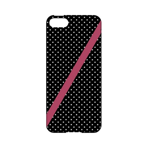 Pink Diagonal Stripe Geeks Designer Line Polka Dot Series Slim Hard Case for Apple iPhone 5/5S