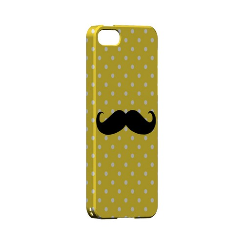 Stache on Yellow Geeks Designer Line Polka Dot Series Slim Hard Case for Apple iPhone 5/5S