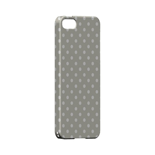 White Dots on Khaki Geeks Designer Line Polka Dot Series Slim Hard Case for Apple iPhone 5/5S