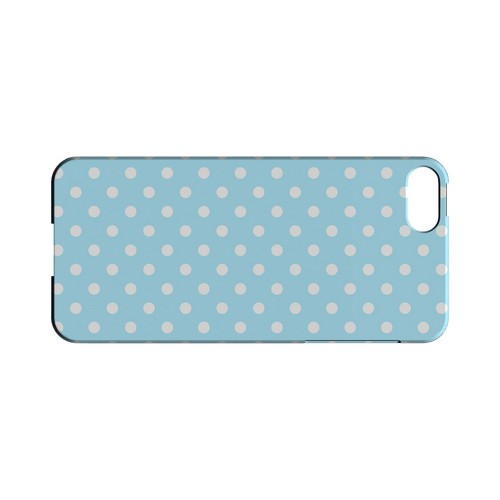 White Dots on Sky Blue Geeks Designer Line Polka Dot Series Slim Hard Case for Apple iPhone 5/5S