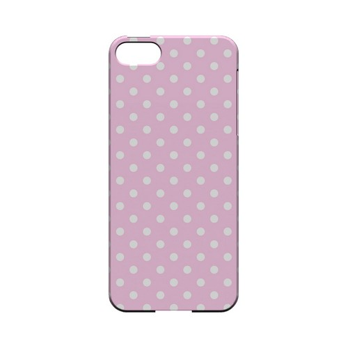 White Dots on Baby Pink Geeks Designer Line Polka Dot Series Slim Hard Case for Apple iPhone 5/5S