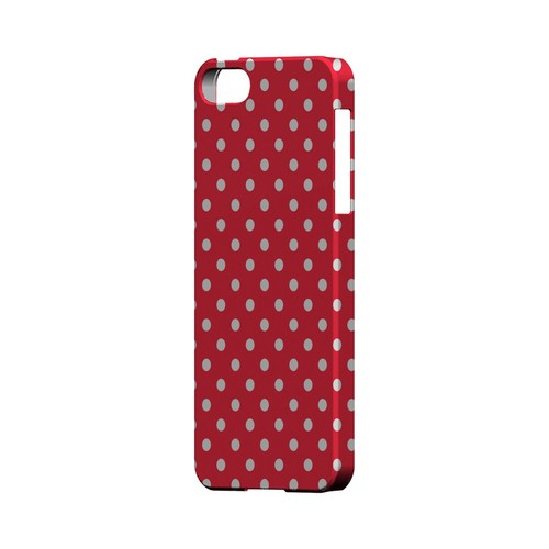 White Dots on Red Geeks Designer Line Polka Dot Series Slim Hard Case for Apple iPhone 5/5S