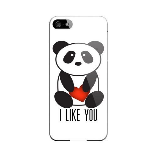 I Like You Panda Geeks Designer Line Heart Series Slim Hard Case for Apple iPhone 5/5S