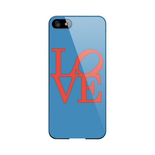 Red Love on Blue Geeks Designer Line Heart Series Slim Hard Case for Apple iPhone 5/5S