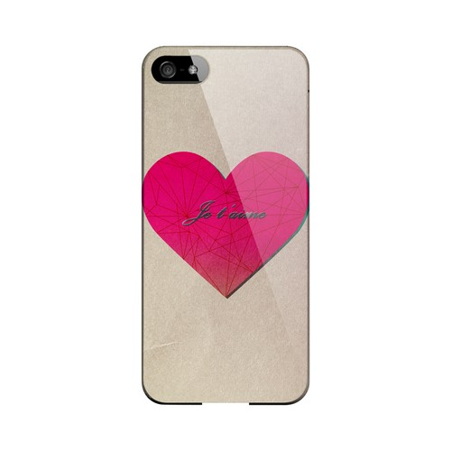 Je t'aime Geeks Designer Line Heart Series Slim Hard Case for Apple iPhone 5/5S