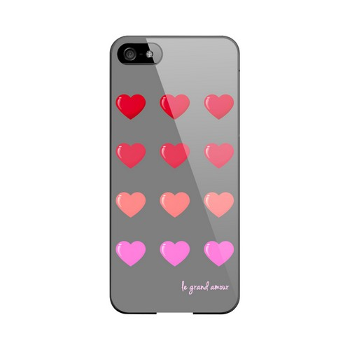 Le Grand Amour Geeks Designer Line Heart Series Slim Hard Case for Apple iPhone 5/5S