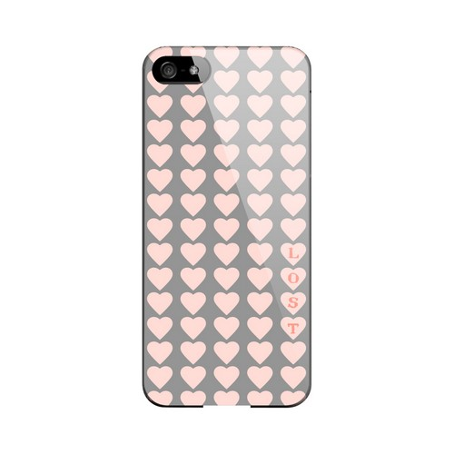Lost in Love Geeks Designer Line Heart Series Slim Hard Case for Apple iPhone 5/5S