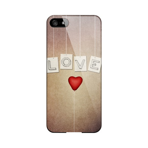Love & Heart Balloon Geeks Designer Line Heart Series Slim Hard Case for Apple iPhone 5/5S