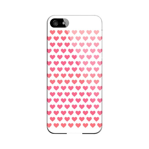 Miniature Hearts Geeks Designer Line Heart Series Slim Hard Case for Apple iPhone 5/5S
