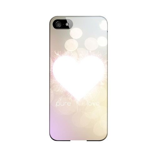 Pure Love Geeks Designer Line Heart Series Slim Hard Case for Apple iPhone 5/5S