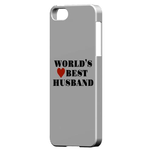 World's Best Husband Geeks Designer Line Heart Series Slim Hard Case for Apple iPhone SE/5/5S