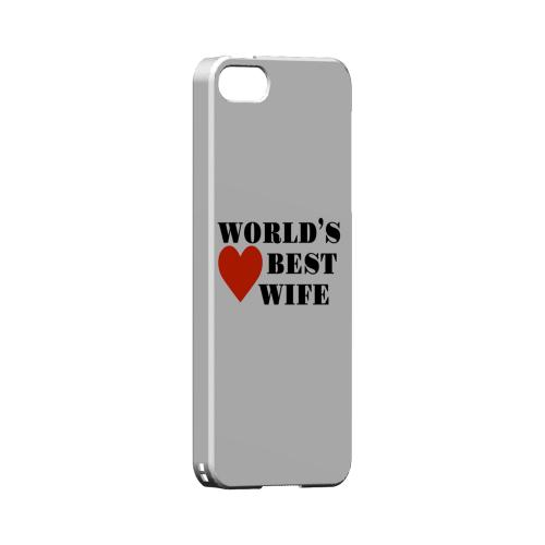 World's Best Wife Geeks Designer Line Heart Series Slim Hard Case for Apple iPhone 5/5S