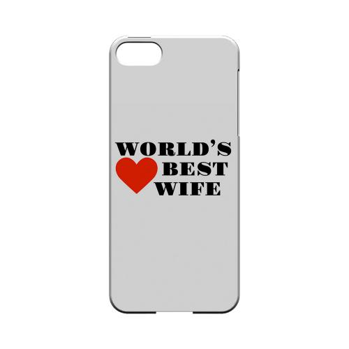 World's Best Wife Geeks Designer Line Heart Series Slim Hard Case for Apple iPhone SE/5/5S