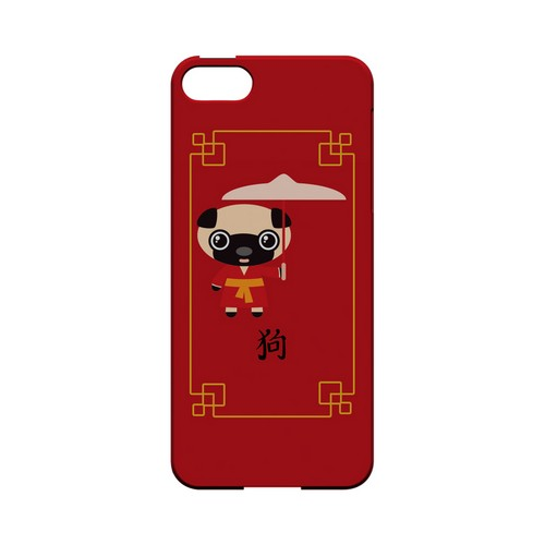 Chibi Dog Geeks Designer Line Chinese Horoscope Series Slim Hard Case for Apple iPhone 5/5S