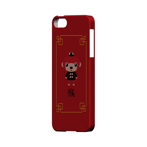Chibi Monkey Geeks Designer Line Chinese Horoscope Series Slim Hard Case for Apple iPhone 5/5S