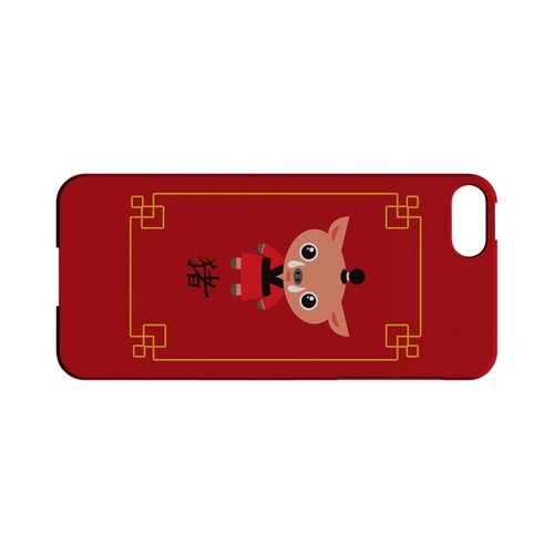 Chibi Pig Geeks Designer Line Chinese Horoscope Series Slim Hard Case for Apple iPhone 5/5S