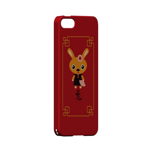 Chibi Rabbit Geeks Designer Line Chinese Horoscope Series Slim Hard Case for Apple iPhone 5/5S