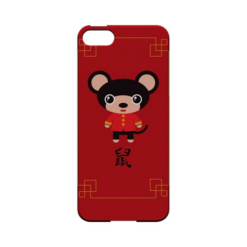 Chibi Rat Geeks Designer Line Chinese Horoscope Series Slim Hard Case for Apple iPhone 5/5S