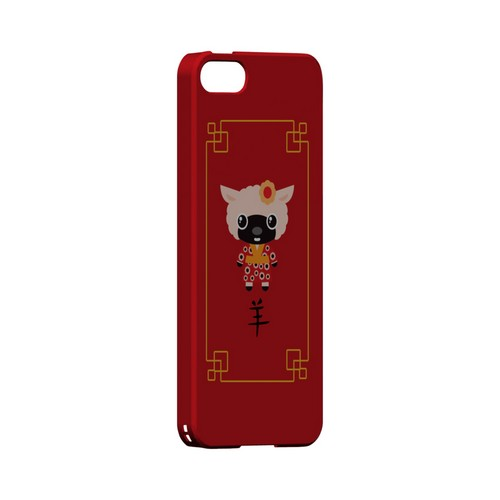 Chibi Sheep Geeks Designer Line Chinese Horoscope Series Slim Hard Case for Apple iPhone 5/5S