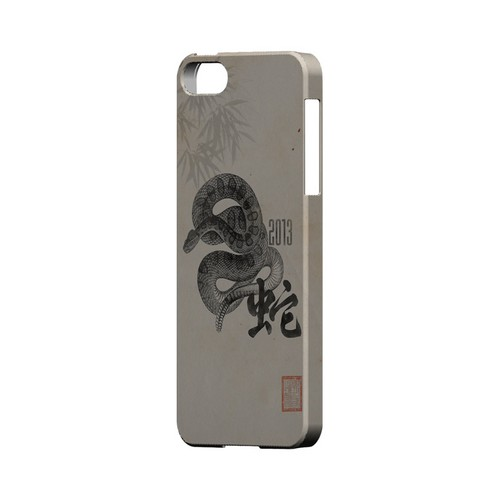 Snake on Parchment Geeks Designer Line Chinese Horoscope Series Slim Hard Case for Apple iPhone 5/5S