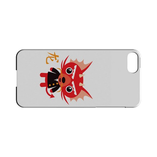 Dragon on White Geeks Designer Line Chinese Horoscope Series Slim Hard Case for Apple iPhone 5/5S