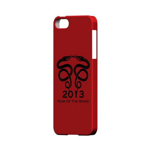 Dual Snake on Red Geeks Designer Line Chinese Horoscope Series Slim Hard Case for Apple iPhone 5/5S