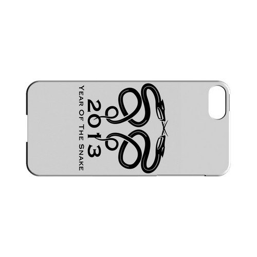 Dal Snake on White Geeks Designer Line Chinese Horoscope Series Slim Hard Case for Apple iPhone 5/5S