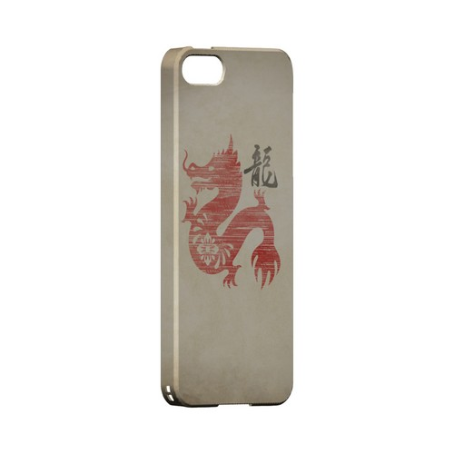 Grunge Dragon Geeks Designer Line Chinese Horoscope Series Slim Hard Case for Apple iPhone 5/5S