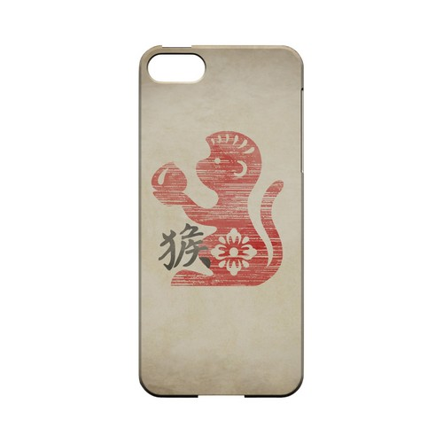 Grunge Monkey Geeks Designer Line Chinese Horoscope Series Slim Hard Case for Apple iPhone 5/5S