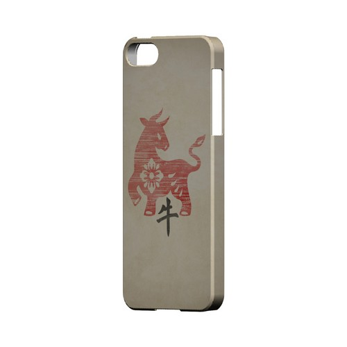 Grunge Ox Geeks Designer Line Chinese Horoscope Series Slim Hard Case for Apple iPhone 5/5S
