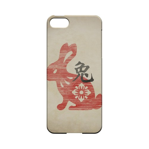 Grunge Rabbit Geeks Designer Line Chinese Horoscope Series Slim Hard Case for Apple iPhone 5/5S