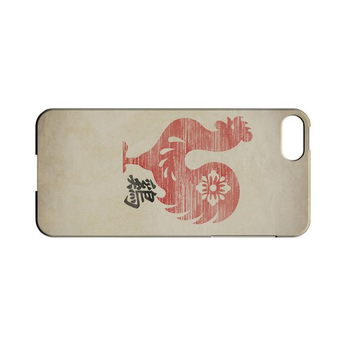 Grunge Rooster Geeks Designer Line Chinese Horoscope Series Slim Hard Case for Apple iPhone 5/5S