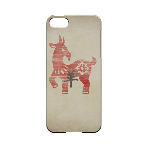 Grunge Sheep Geeks Designer Line Chinese Horoscope Series Slim Hard Case for Apple iPhone 5/5S