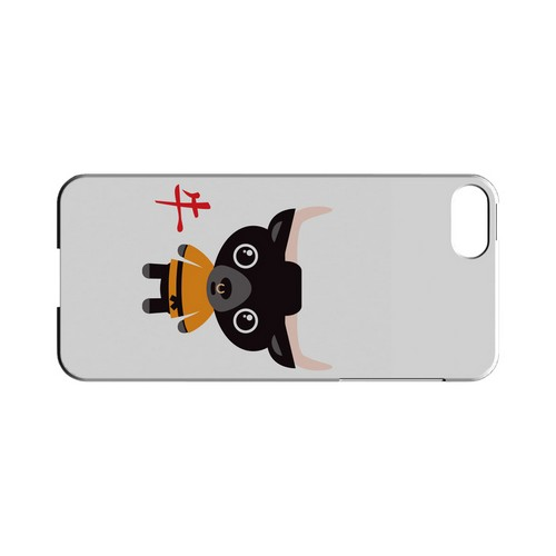 Ox on White Geeks Designer Line Chinese Horoscope Series Slim Hard Case for Apple iPhone 5/5S