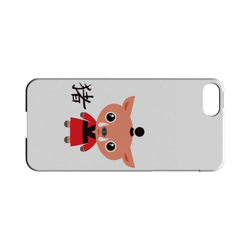 Pig on White Geeks Designer Line Chinese Horoscope Series Slim Hard Case for Apple iPhone 5/5S