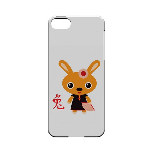 Rabbit on White Geeks Designer Line Chinese Horoscope Series Slim Hard Case for Apple iPhone 5/5S
