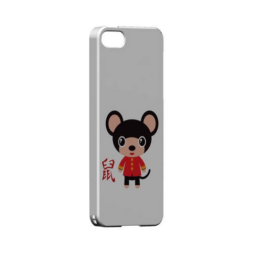 Rat on White Geeks Designer Line Chinese Horoscope Series Slim Hard Case for Apple iPhone 5/5S