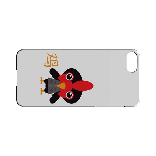 Rooster on White Geeks Designer Line Chinese Horoscope Series Slim Hard Case for Apple iPhone 5/5S