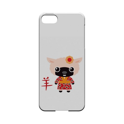 Sheep on White Geeks Designer Line Chinese Horoscope Series Slim Hard Case for Apple iPhone 5/5S
