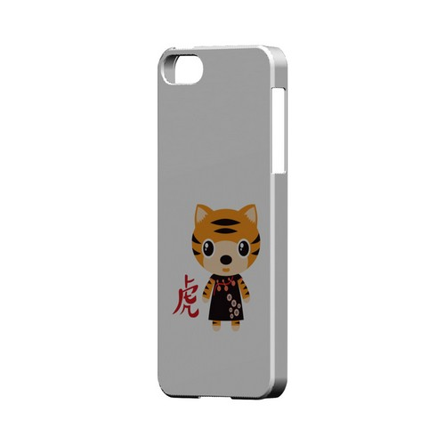 Tiger on White Geeks Designer Line Chinese Horoscope Series Slim Hard Case for Apple iPhone 5/5S