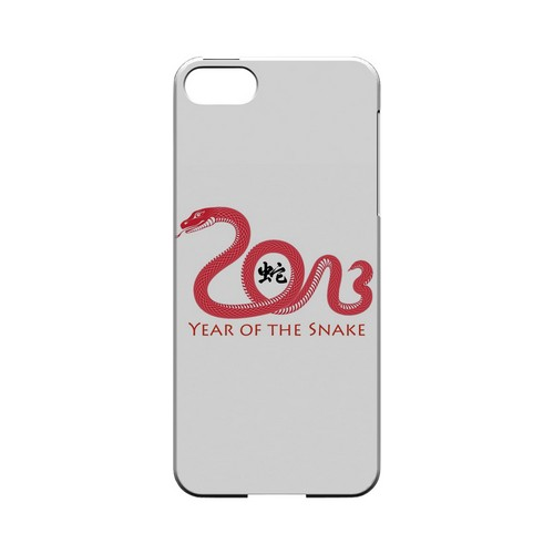 Red Year of the Snake Geeks Designer Line Chinese Horoscope Series Slim Hard Case for Apple iPhone 5/5S