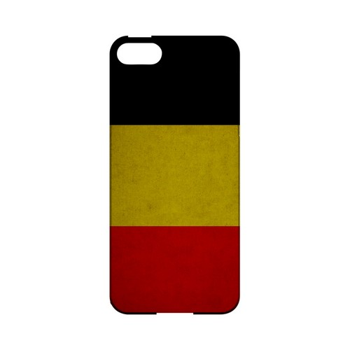 Grunge Belgium Geeks Designer Line Flag Series Slim Hard Case for Apple iPhone 5/5S