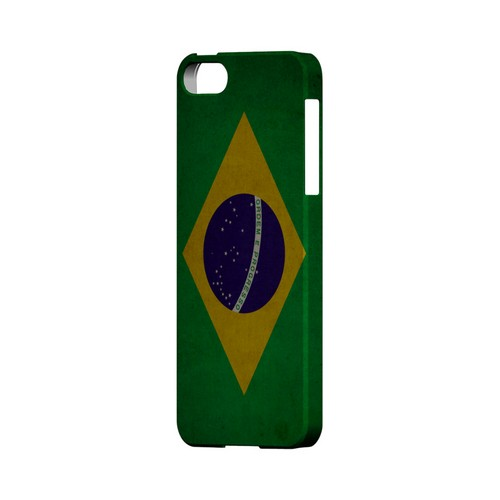 Grunge Brazil Geeks Designer Line Flag Series Slim Hard Case for Apple iPhone 5/5S