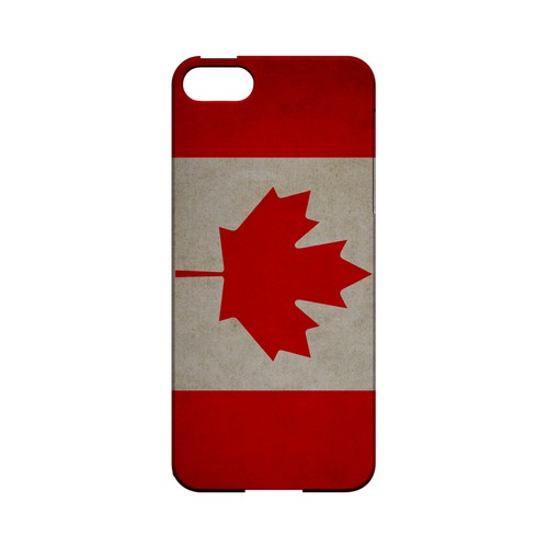 Grunge Canada Geeks Designer Line Flag Series Slim Hard Case for Apple iPhone 5/5S